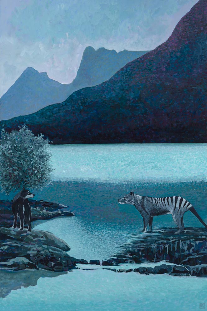 At Dove Lake_153x102_Acrylic and Gesso on Canvas