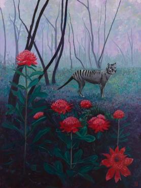 Elegy_122x92cm_acrylic & gesso on canvas