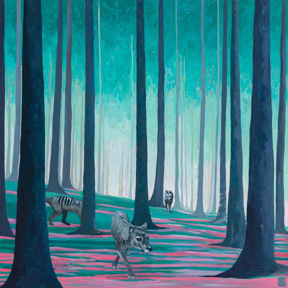 Requiem_102x102cm_Acrylic & gesso on canvas